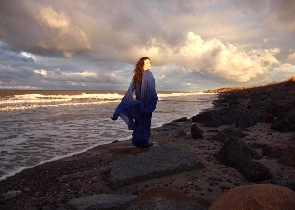 Fotoshooting Album Blau