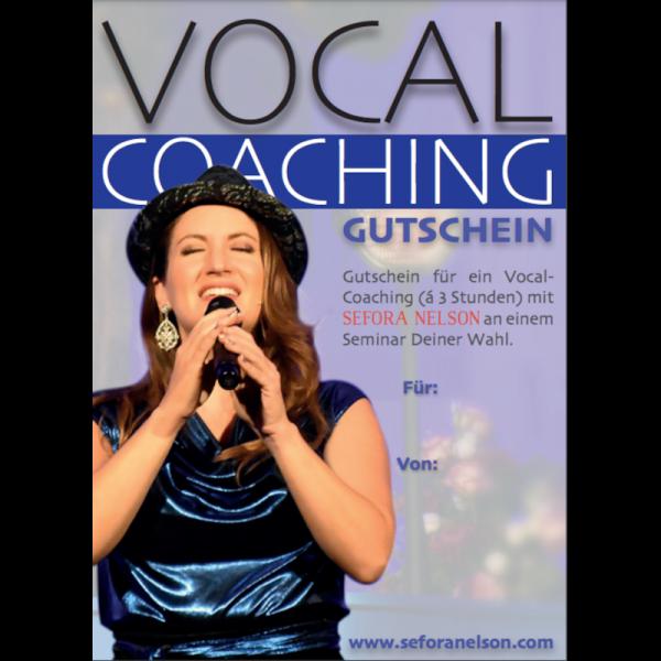 Gutschein Vocal Coaching